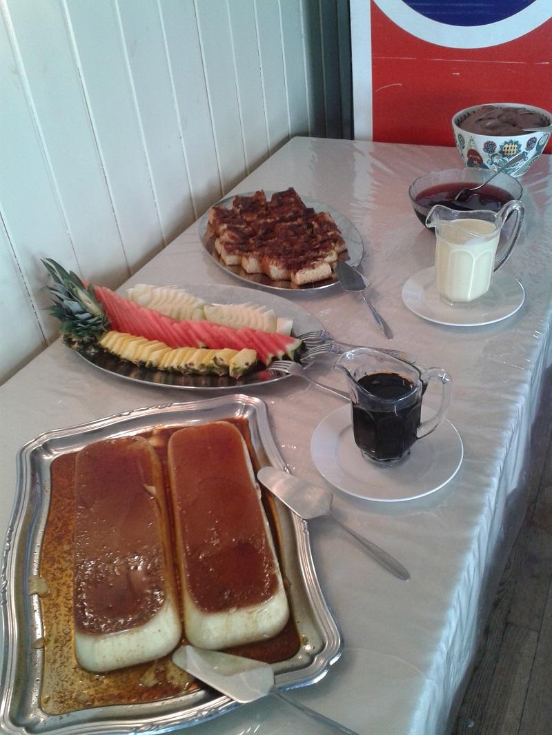pudding og eplekake