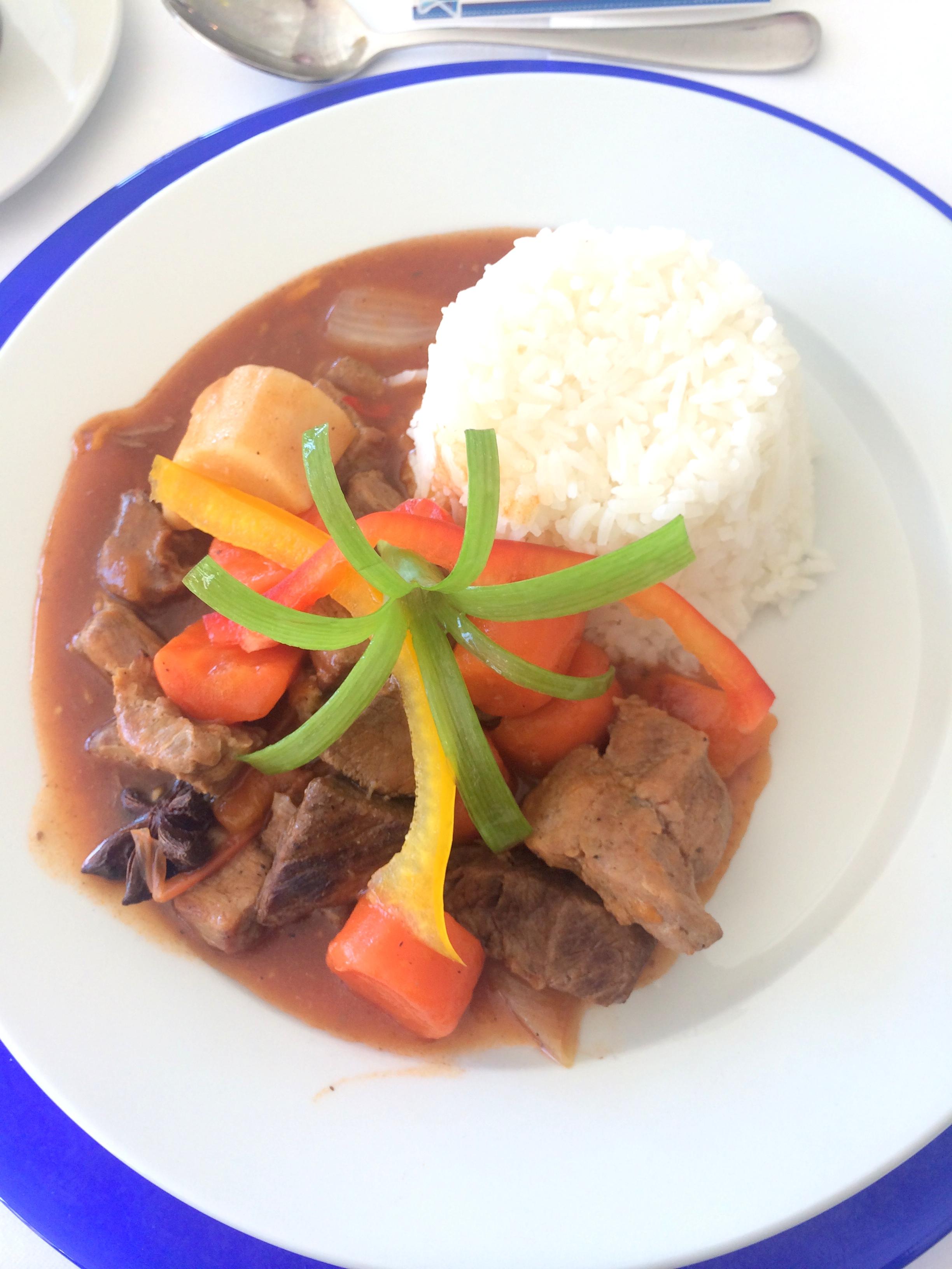 Oksekjøtt med ris